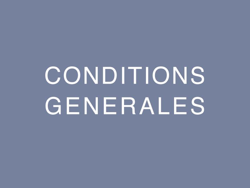 Les conditions générales de participation
